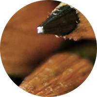The tip of the pencil